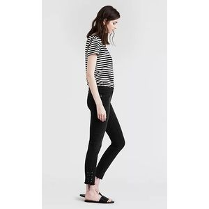 Levi's 711 Skinny with Ankle Tie Detail Black